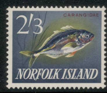 Norfolk Is 1962-64 Pictorials, Fish 2/3d MLH