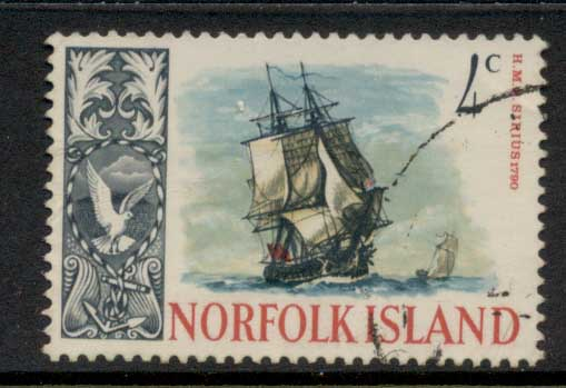 Norfolk Is 1967-68 Pictorials, Ships 4c FU