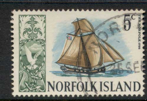 Norfolk Is 1967-68 Pictorials, Ships 5c FU