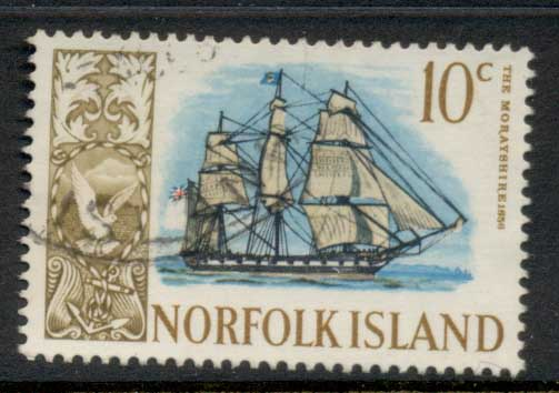Norfolk Is 1967-68 Pictorials, Ships 8c FU