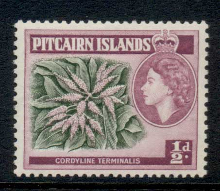 Pitcairn Is 1957 QEII Pictorial 0.5d MLH