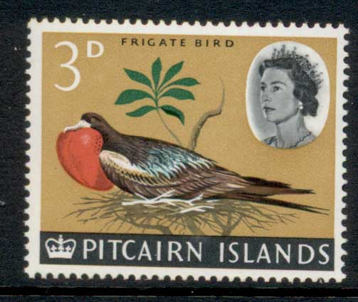 Pitcairn Is 1964-65 QEII Pictorial, Bird 3d MUH