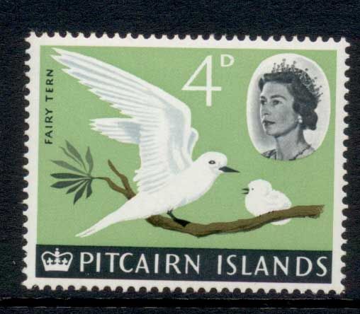 Pitcairn Is 1964-65 QEII Pictorial, Bird 4d MUH