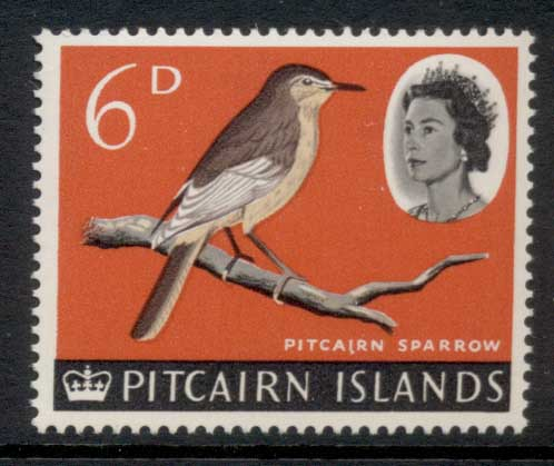 Pitcairn Is 1964-65 QEII Pictorial, Bird 6d MUH