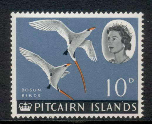 Pitcairn Is 1964-65 QEII Pictorial, Bird 10d MUH