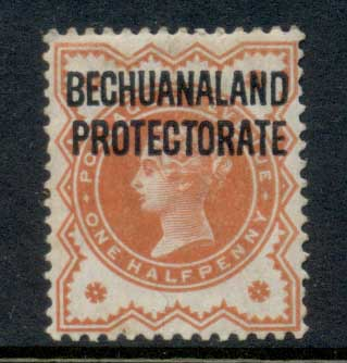 Bechuanaland Protectorate 1897 QV 0.5d vermillion Opt MLH