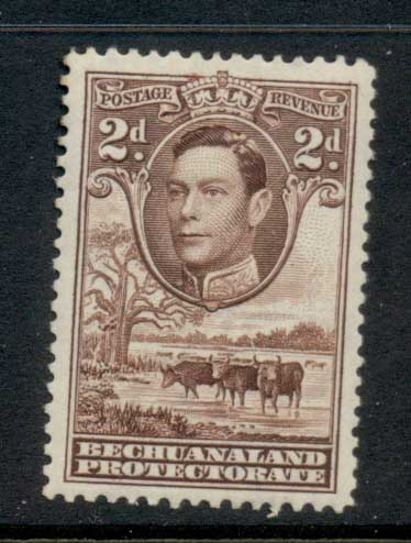 Bechuanaland Protectorate 1938 KGVI Pictorial, Cattle 2d MLH