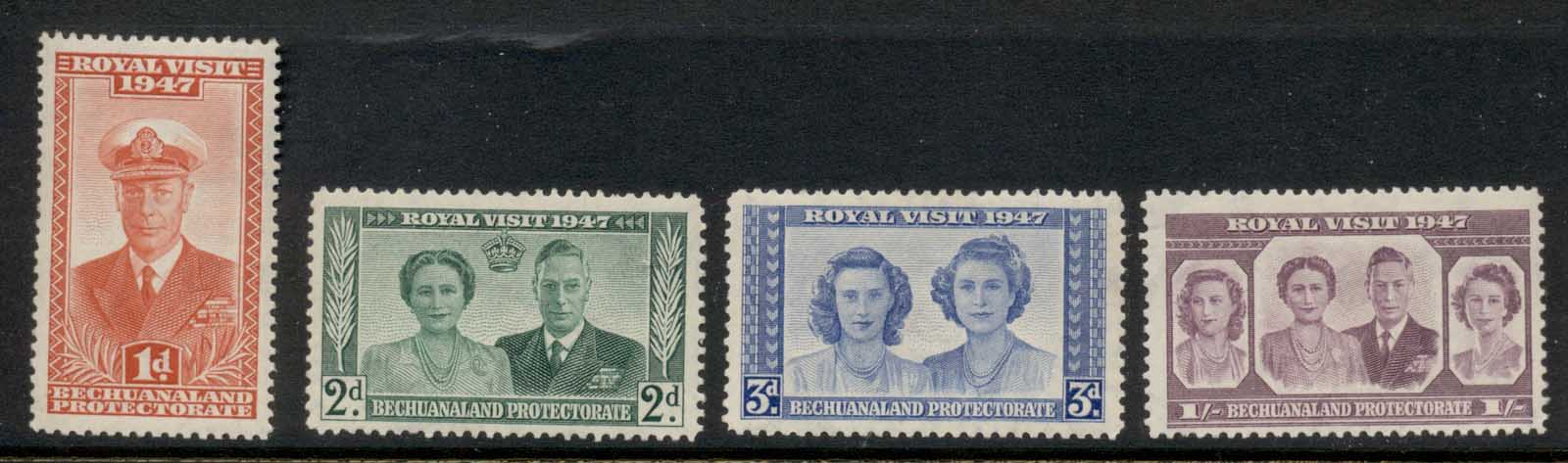 Bechuanaland Protectorate 1947 Royal Visit MLH
