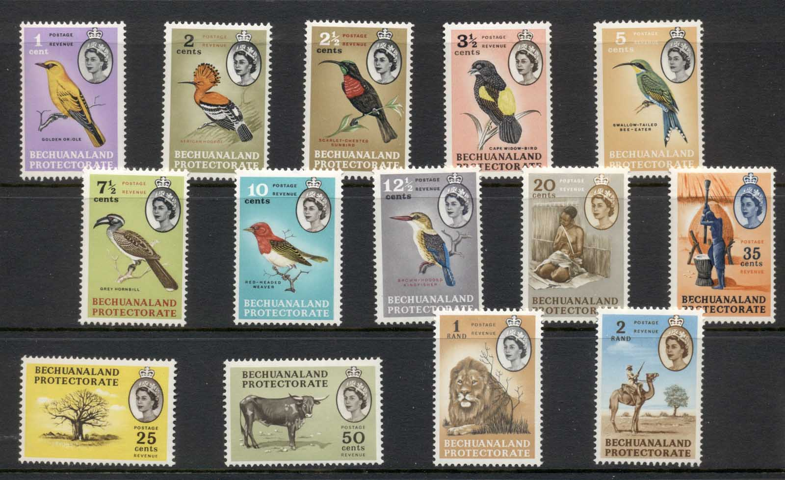 Bechuanaland Protectorate 1961 QEII Pictorials, Birds MLH