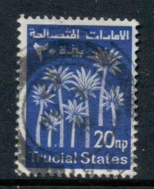 Trucial States 1961 Palm Trees 20np FU