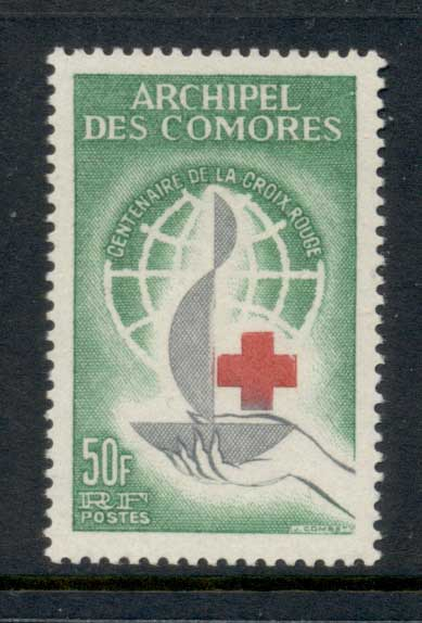 Comoro Is 1963 red Cross centenary MUH