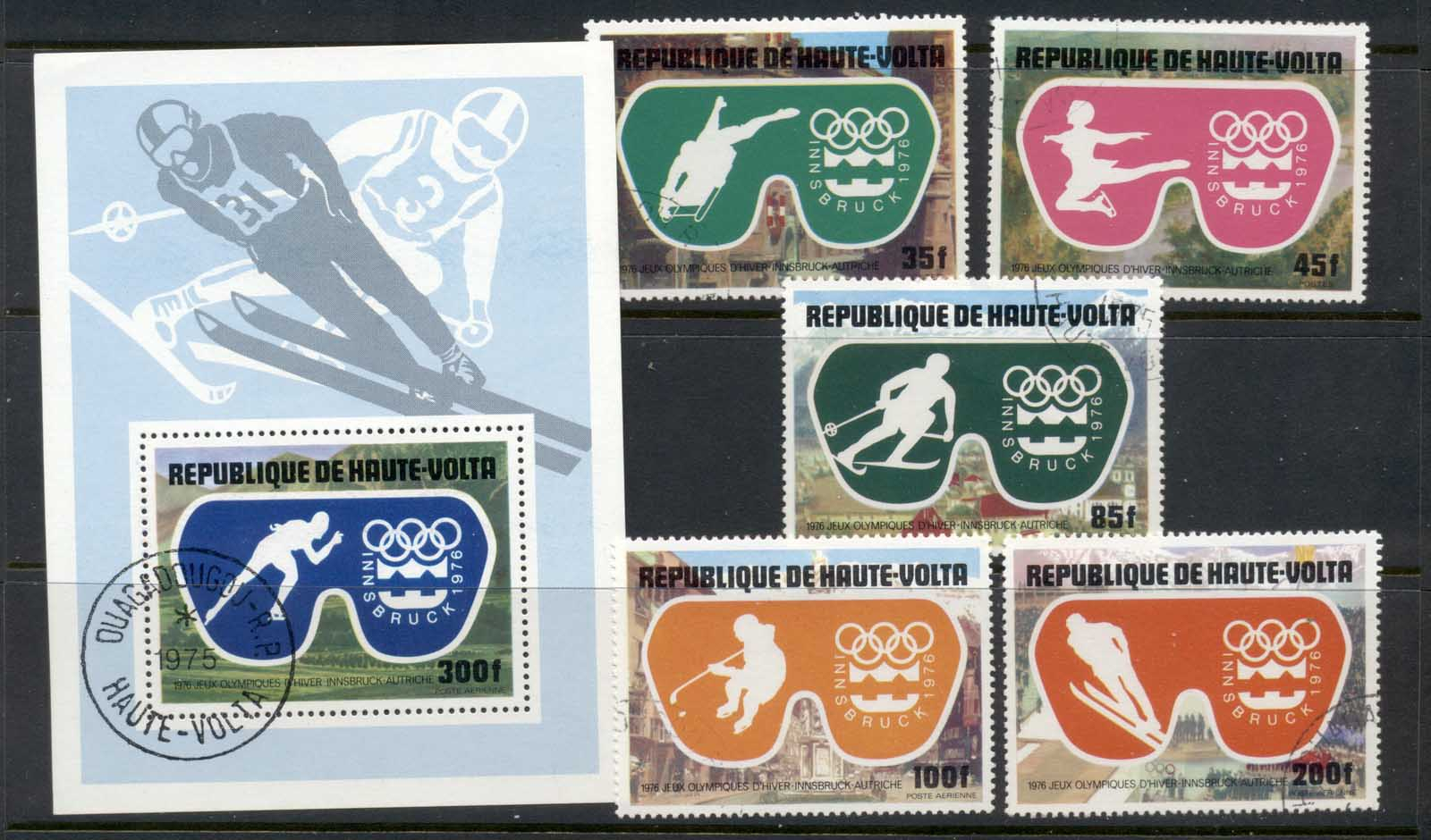 Upper Volta 1975 Winter Olympics Innsbruck + MS CTO