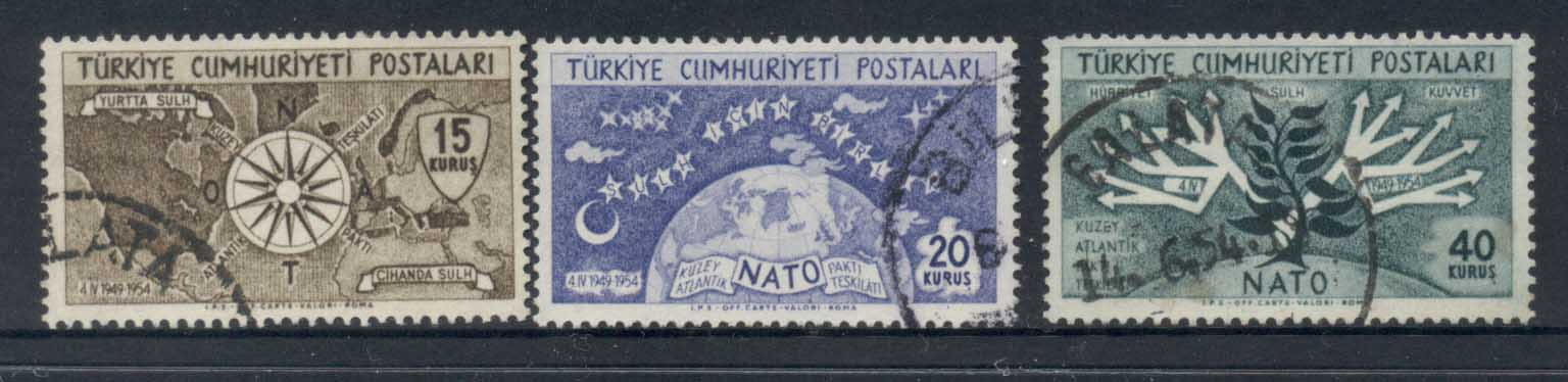 Turkey 1954 NATO 5th Anniv. FU