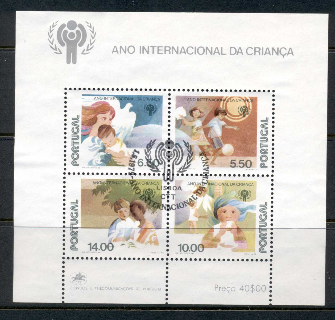 Portugal 1979 Intl. year of the Child MS CTO