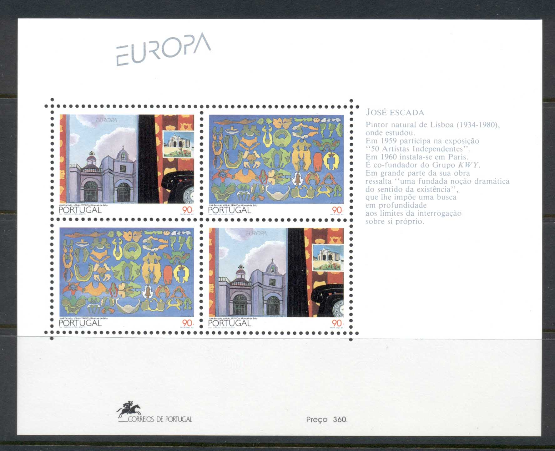 Portugal 1993 Europa MS MUH