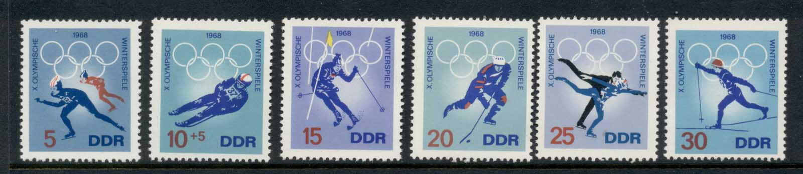 Germany DDR 1968 Winter Olympics Grenoble MLH