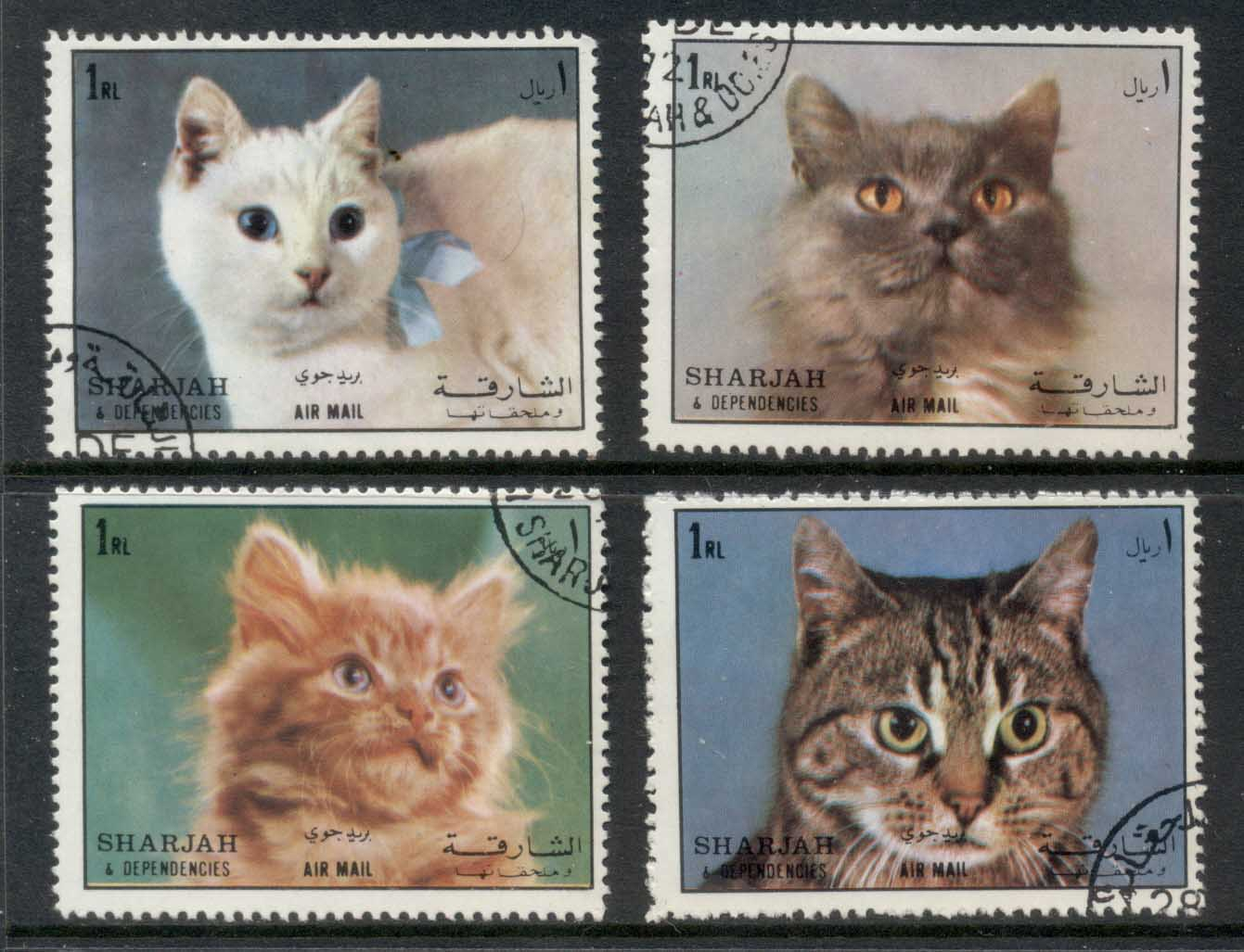 Sharjah 1972 Mi#1288-91 Domestic Cats CTO