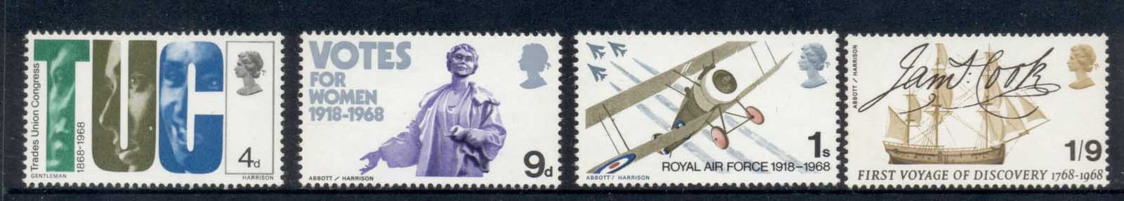 GB 1968 British Anniversaries MUH