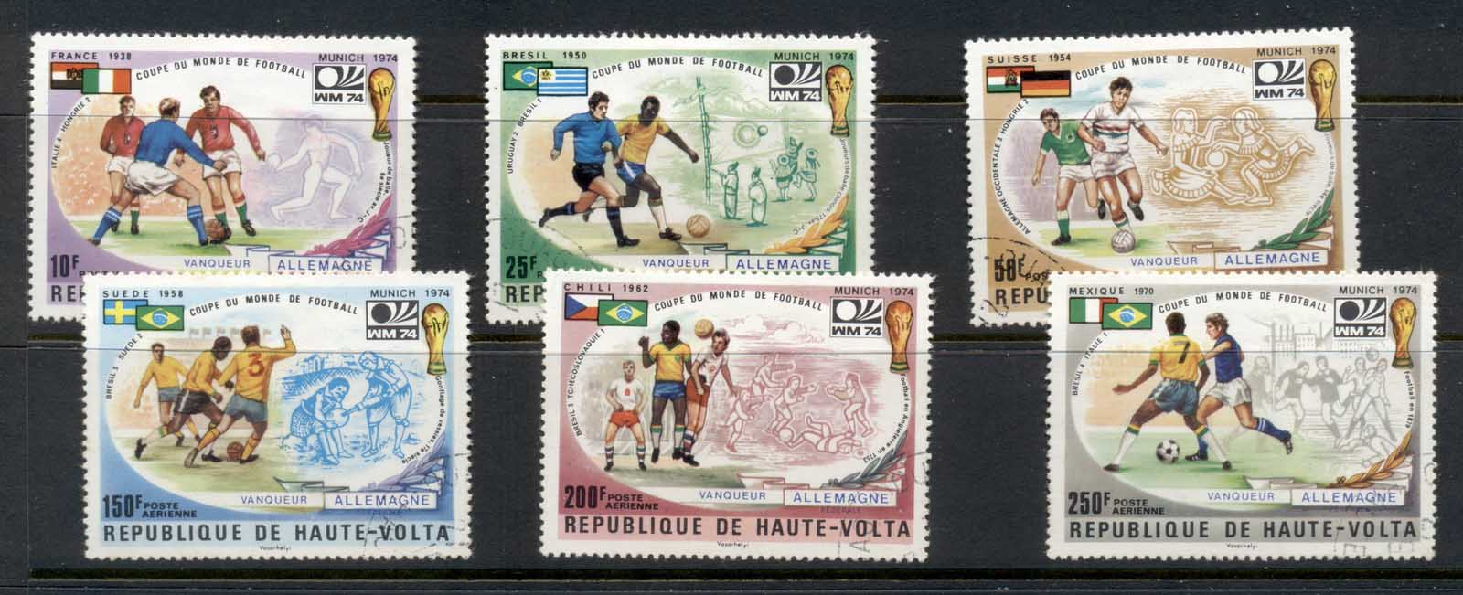 Upper Volta 1974 World Cup Soccer Winners CTO