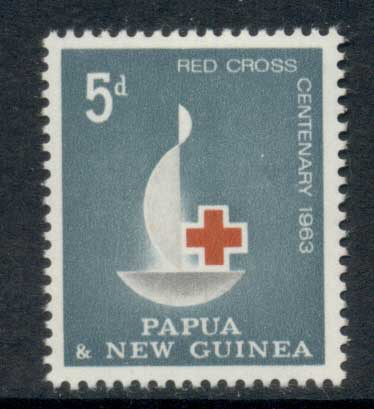 PNG 1963 red Cross Centenary MLH