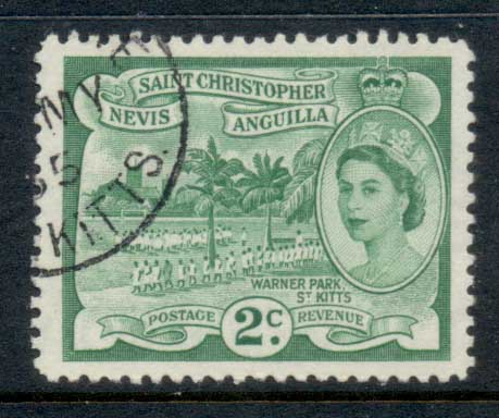 St Christopher Nevis Anguilla 1954-57 QEII Pictorial 2c FU
