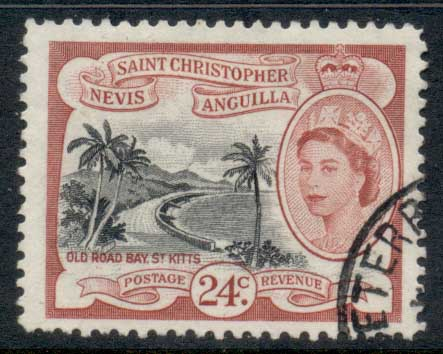 St Christopher Nevis Anguilla 1954-57 QEII Pictorial 24c FU