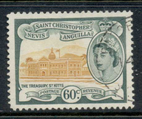 St Christopher Nevis Anguilla 1954-57 QEII Pictorial 60c FU
