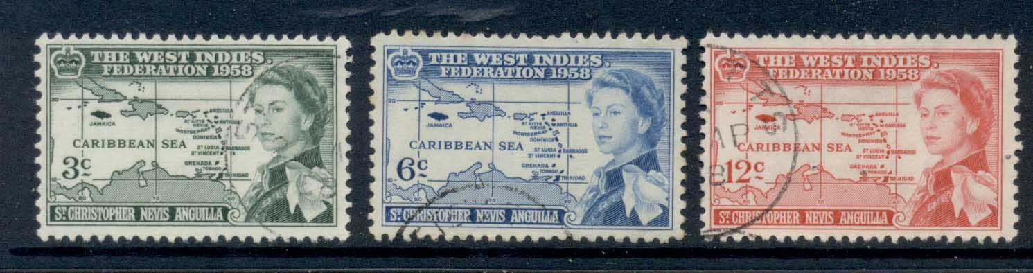 St Christopher Nevis Anguilla 1958 West Indies federation FU