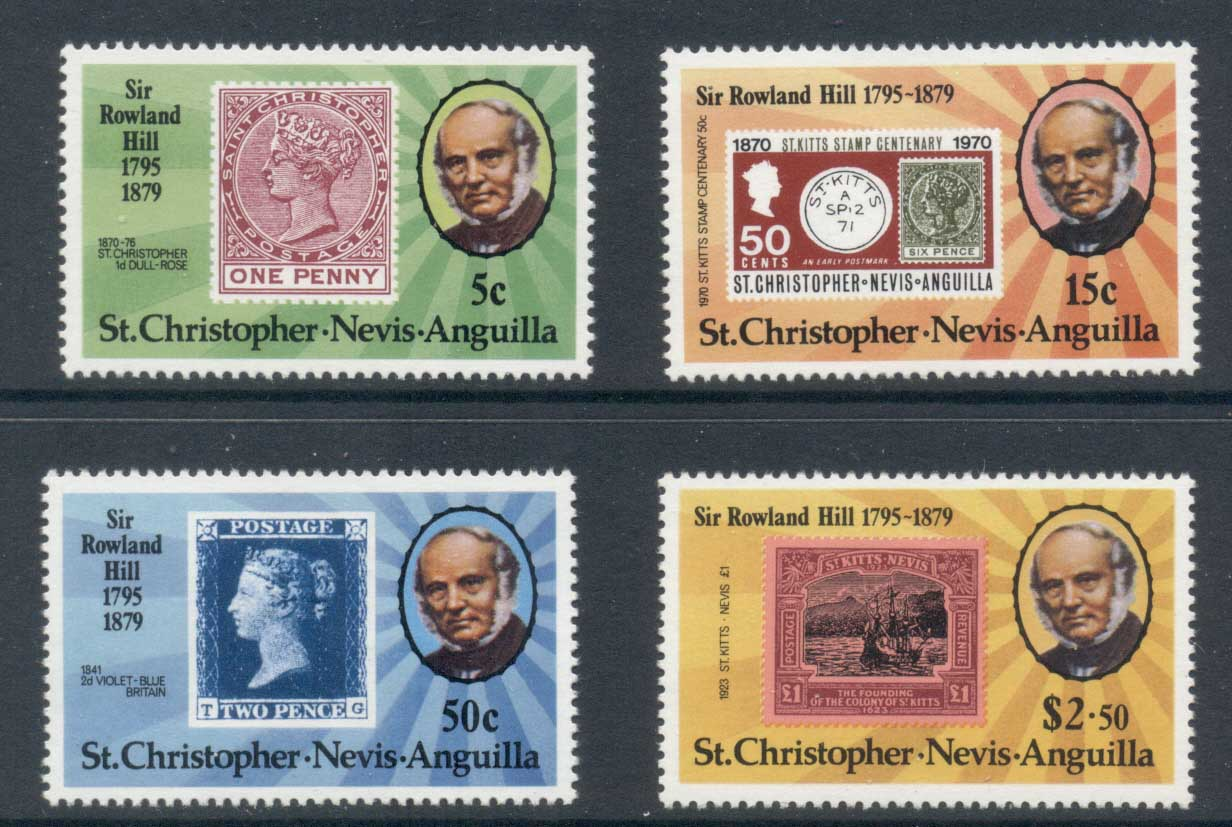 St Christopher Nevis Anguilla 1979 Rowland Hill MLH