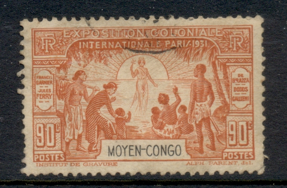Middle Congo 1931 Colonial Expo 90c FU