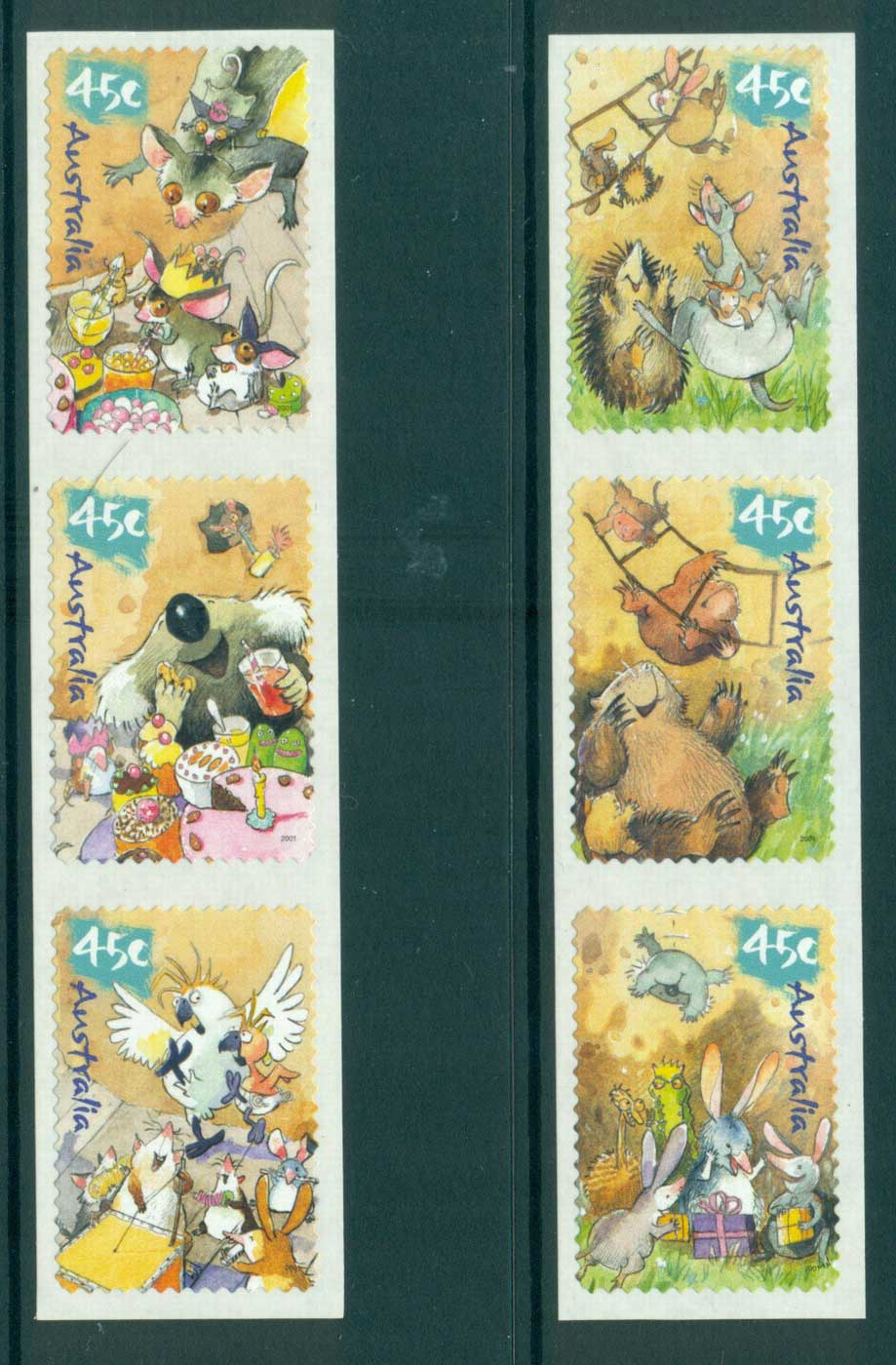 Australia 2001 Wild Babies P&S Str 3, 3, MUH Lot29711