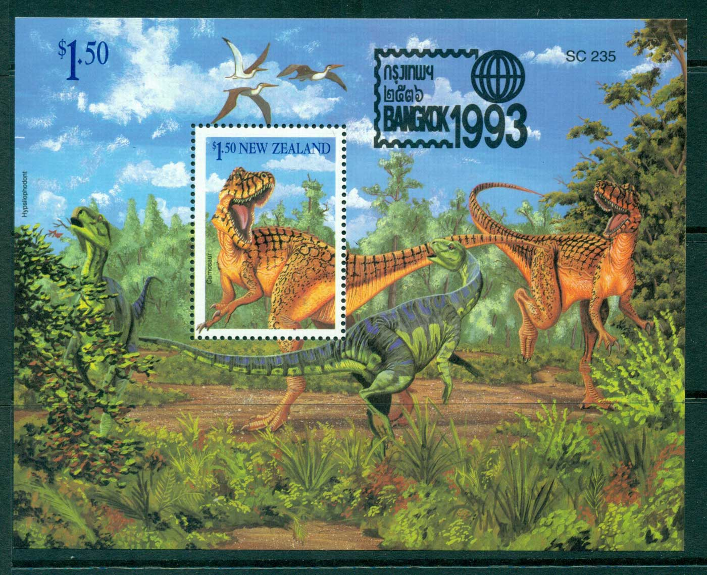 New Zealand 1993 Bangkok Dinosaur MS MUH Lot29861