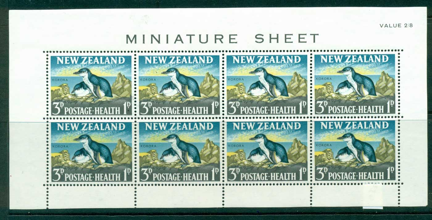 New Zealand 1964 3d Health MS MUH Lot29901
