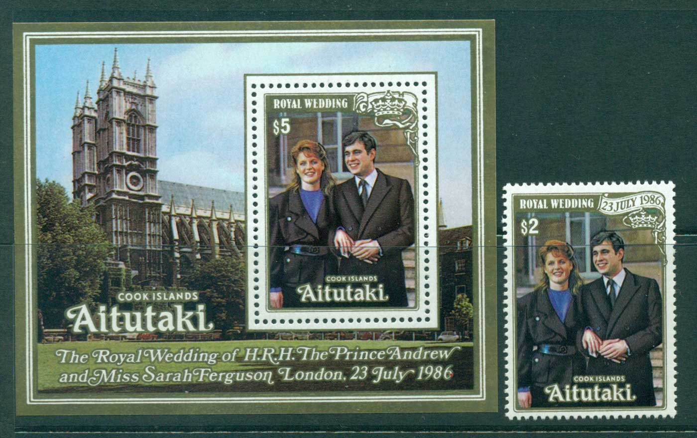 Aitutaki 1986 Royal Wedding Andrew & Sarah MUH Lot30002
