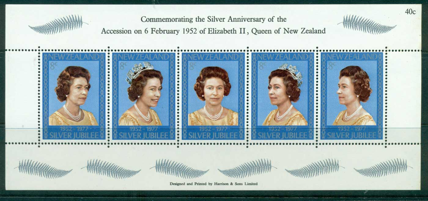 New Zealand 1977 QEII Silver Jubilee MS MUH Lot30044
