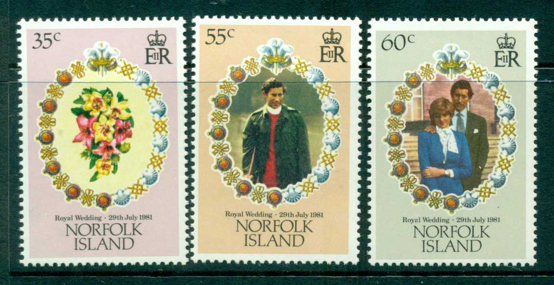 Norfolk Is 1981 Diana Wedding MUH Lot30065