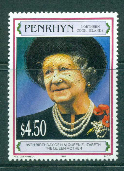 Penrhyn Is 1995 Queen Mother 95th Birthday MUH Lot30080