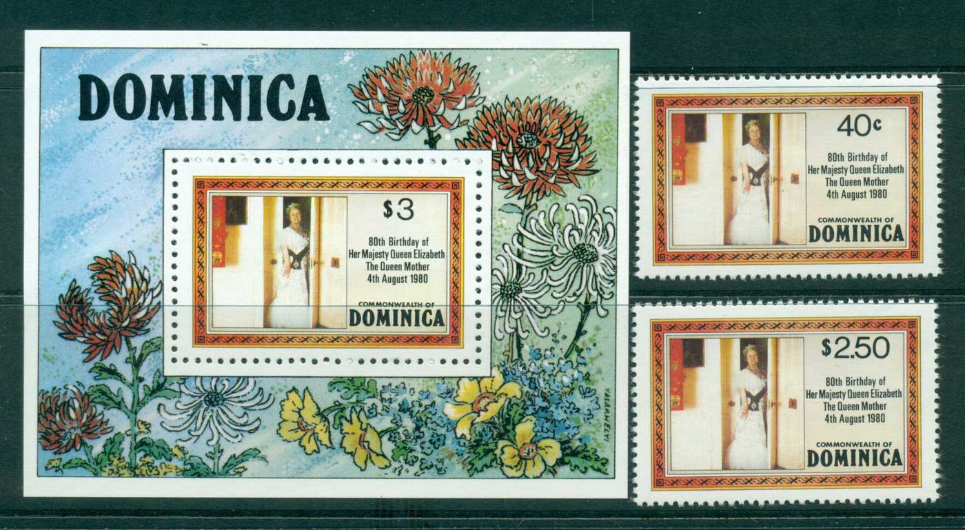Dominica 1980 Queen Mother 80th Birthday + MS MUH Lot30227