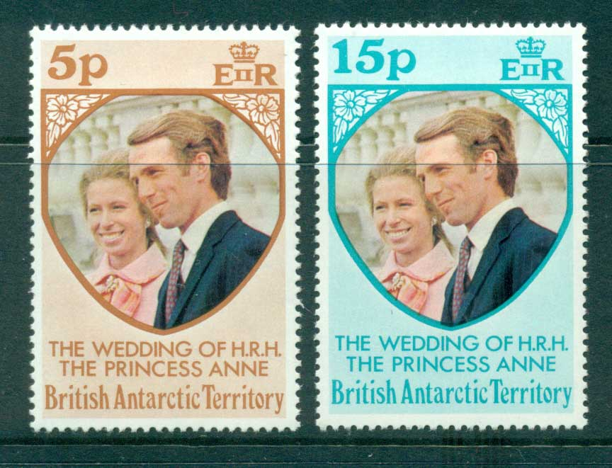 BAT 1973 Princess Anne Wedding MUH Lot30285