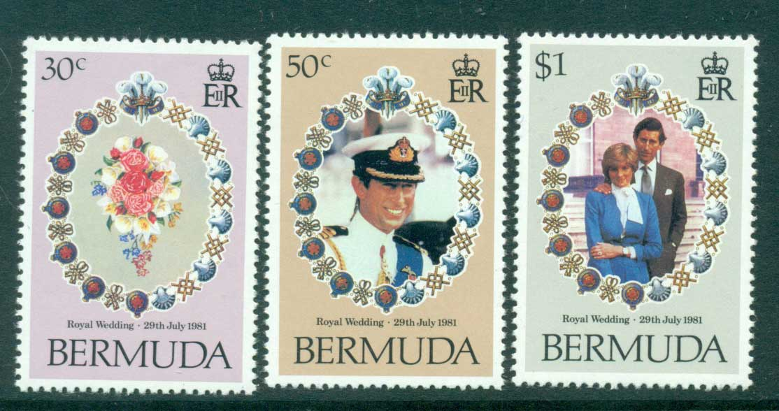Bermuda 1981 Charles & Diana Wedding MUH Lot30290