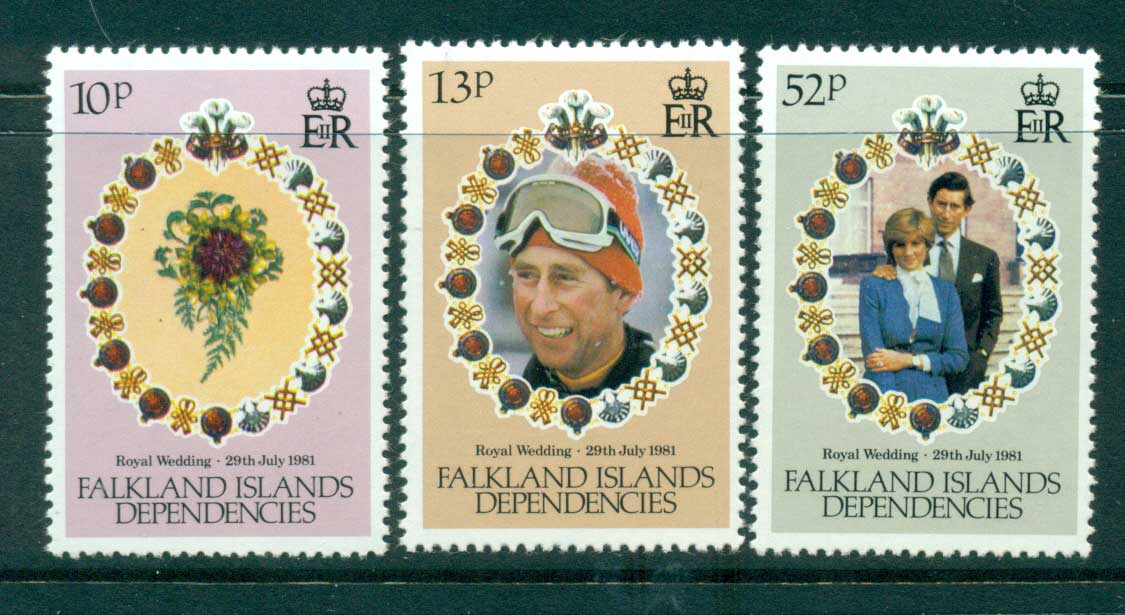 Falkland Is Deps 1981 Charles & Diana Wedding MUH Lot30332