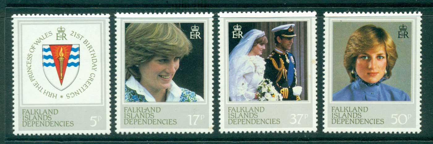 Falkland Is Deps 1982 Diana 21st Birthday MUH Lot30333