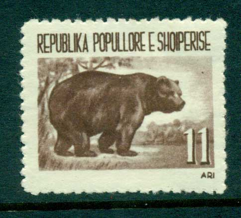 Albania 1961 11lek brown bear MLH lot31028