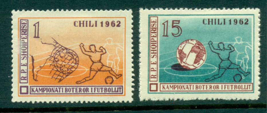 Albania 1962 World Cup Soccer 1l, 15l MLH lot31035