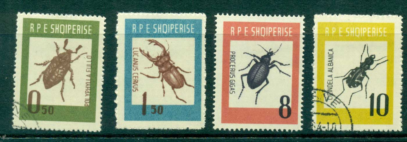Albania 1963 Beetles MH/CTO lot31039