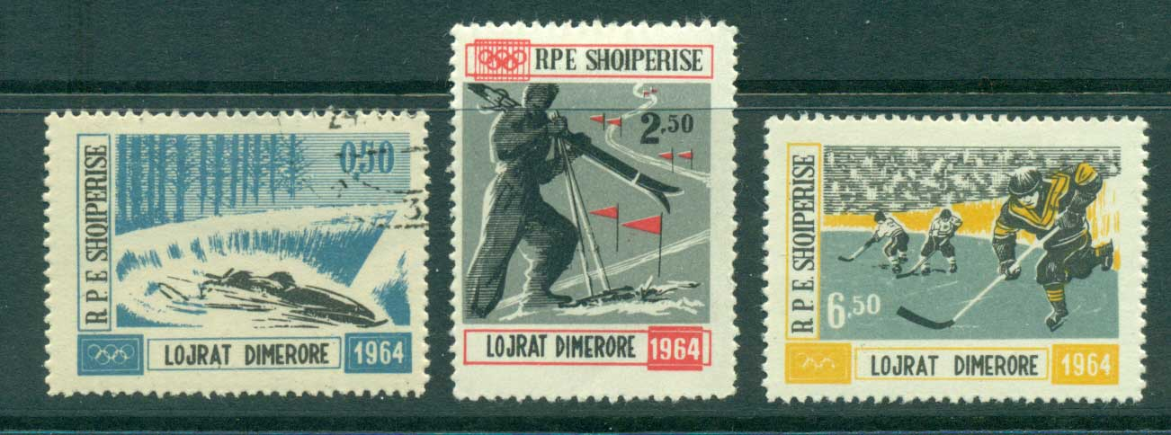 Albania 1963 Winter Olympics (3/4) MLH/CTO lot31044