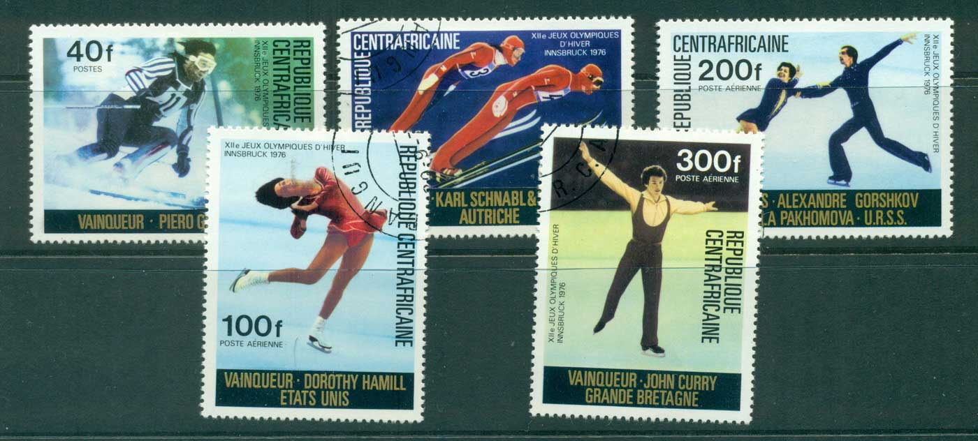 Central African Republic 1976 Winter Olympics CTO lot31410