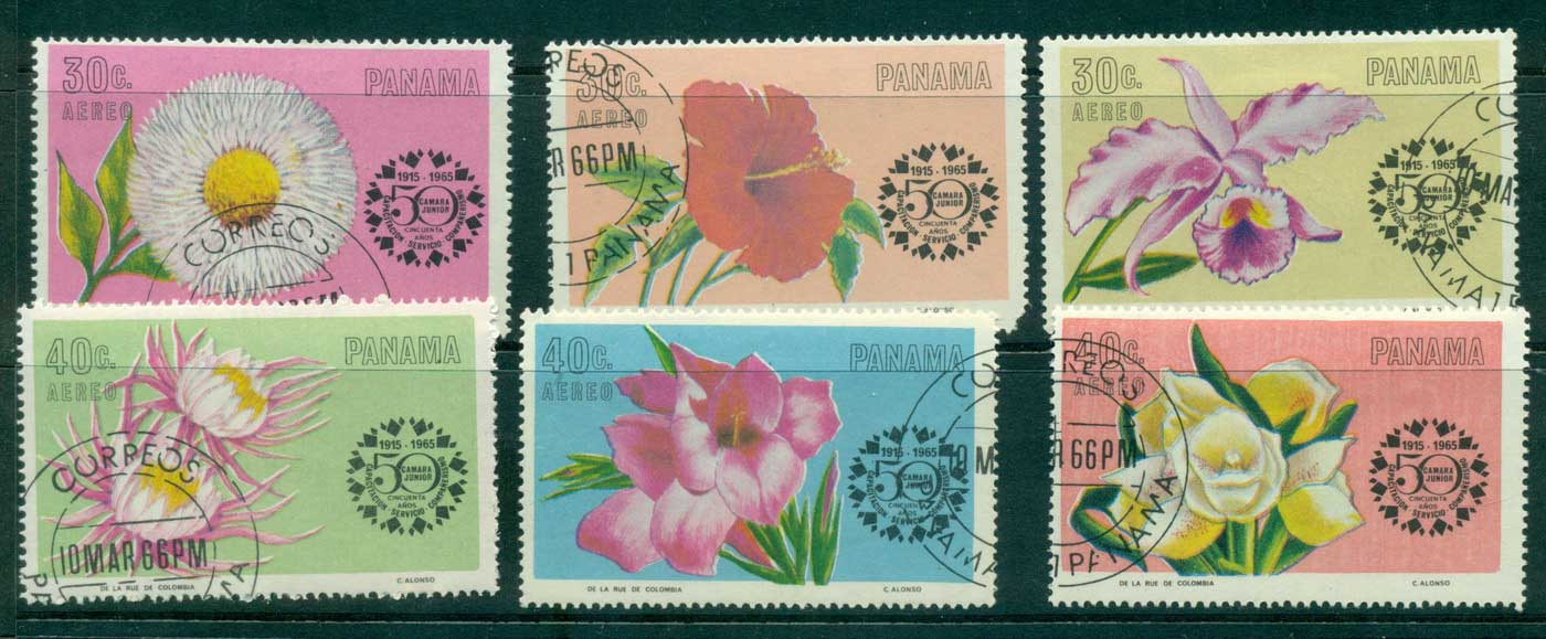 Panama 1985 Flowers (30c short corner) CTO lot31790