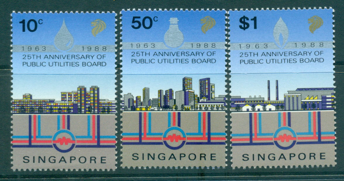 Singapore 1988 Public Utilities Board 25th Anniv MUH Lot31929