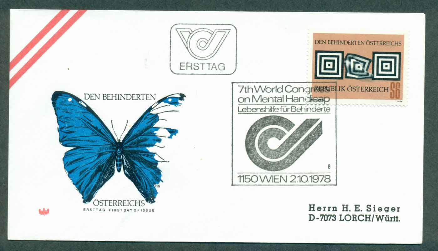 Austria 1978 Aid to handicapped FDC lot32262